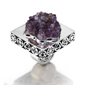 Ring 5 Elements Amethyst Symbol