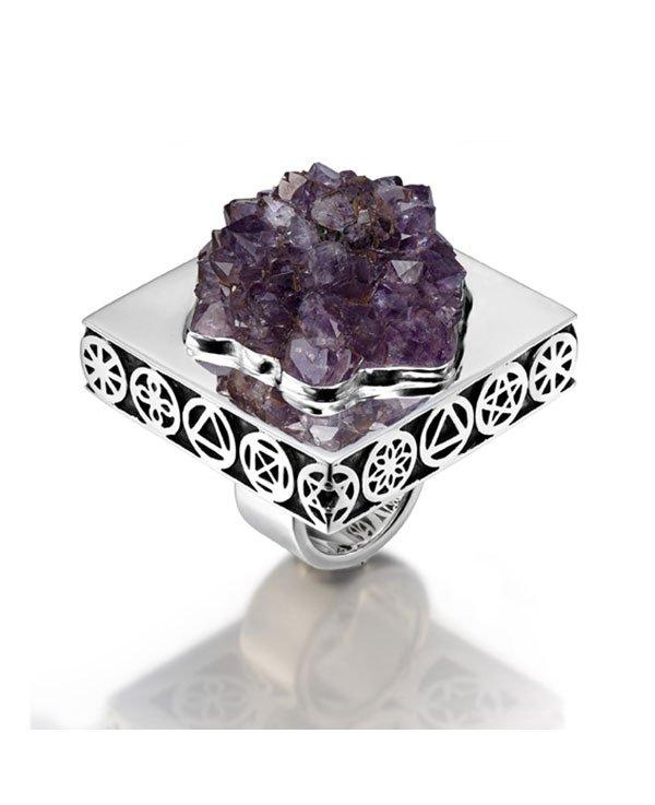 Ring 5 Elements Amethyst Symbol